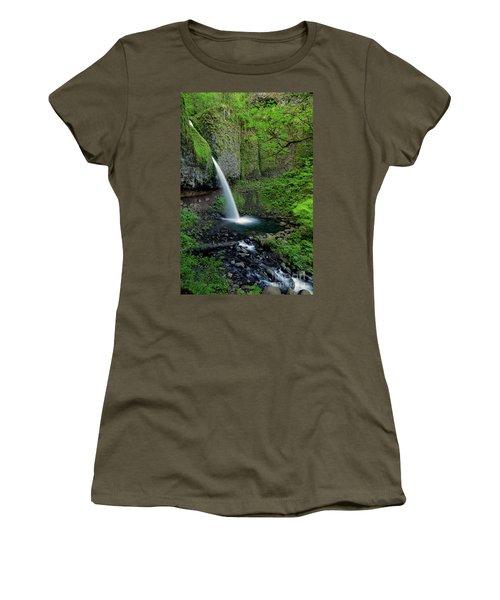 Horsetail Falls Waterfall Art By Kaylyn Franks Women's T-Shirt