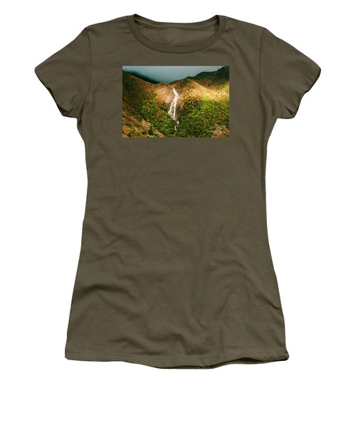Horsetail Waterfalls Tasmania  Women's T-Shirt
