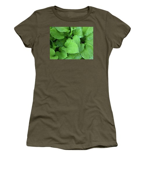 Hostas After The Rain IIi Women's T-Shirt