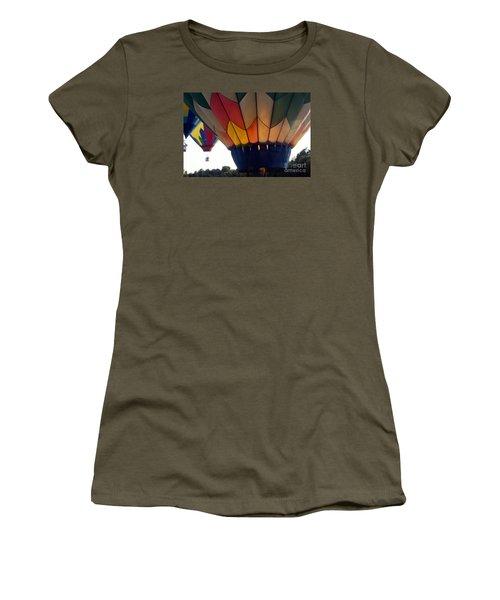 Women's T-Shirt (Junior Cut) featuring the painting Hot Air Balloon by Debra Crank