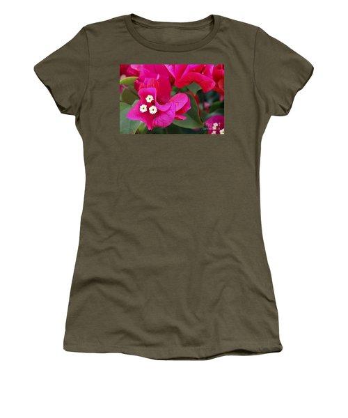 Hot Pink Bougainvillea Women's T-Shirt