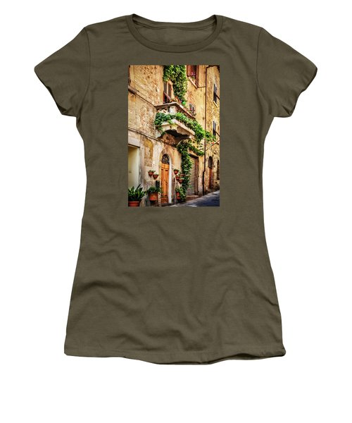 Women's T-Shirt (Junior Cut) featuring the photograph House In Arezzoo, Italy by Marion McCristall