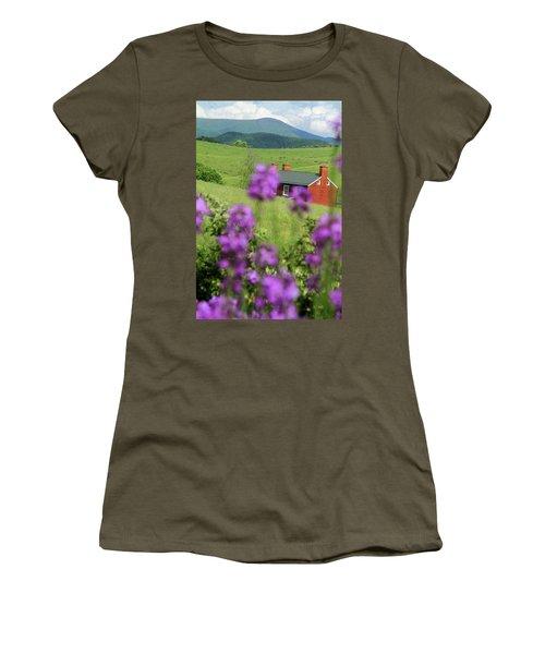 House On Virginia's Hills Women's T-Shirt (Junior Cut) by Emanuel Tanjala