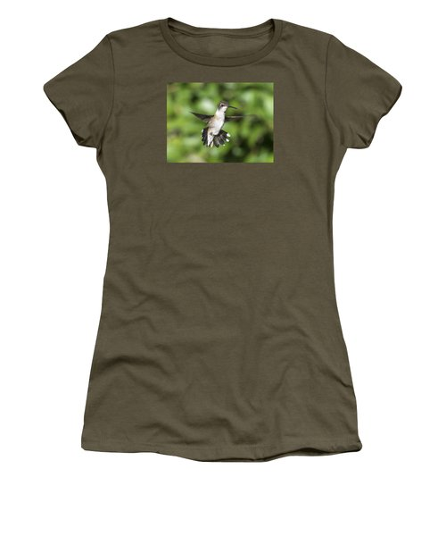 Hovering Hummer Women's T-Shirt (Junior Cut) by Stephen Flint