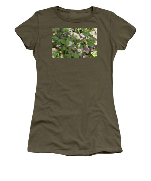 Women's T-Shirt (Athletic Fit) featuring the photograph Huckleberries by Fran Riley