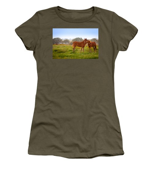 Women's T-Shirt featuring the photograph Hug It Out by Melinda Ledsome