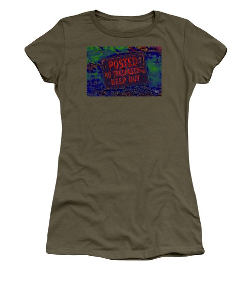 Human Barriers To The Subsconscious Women's T-Shirt (Junior Cut) by Gina O'Brien