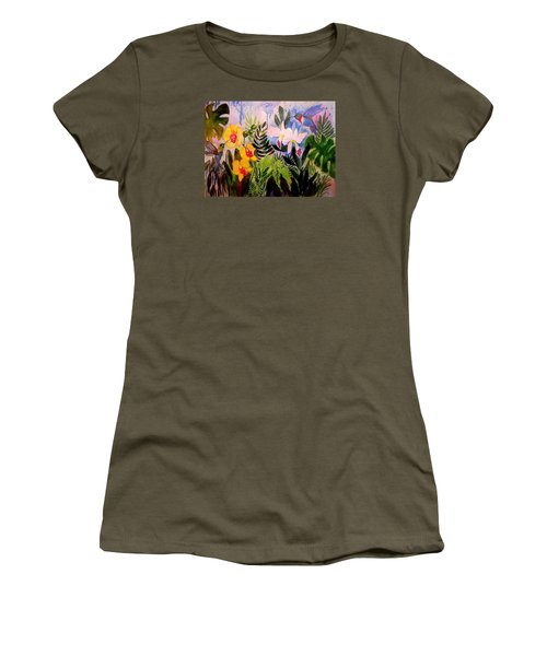 Hummers And Orchids Women's T-Shirt (Athletic Fit)