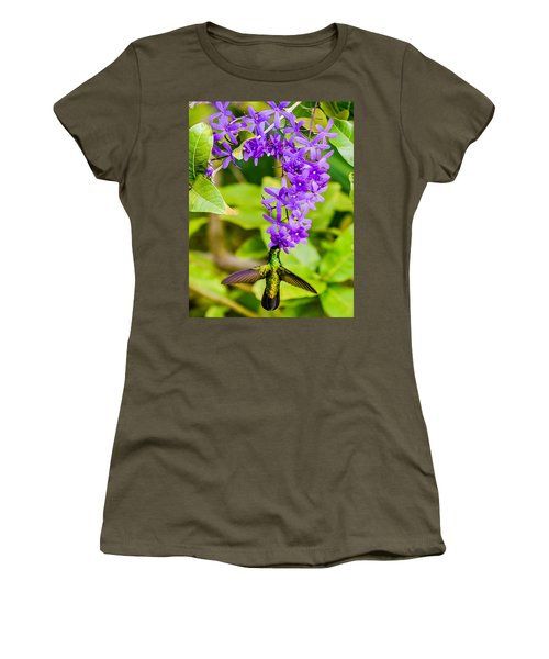 Humming Bird Flowers Women's T-Shirt