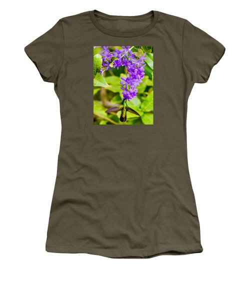 Humming Bird Flowers Women's T-Shirt