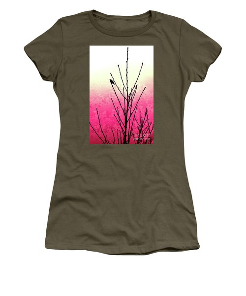 Hummingbird Valentine Women's T-Shirt (Athletic Fit)