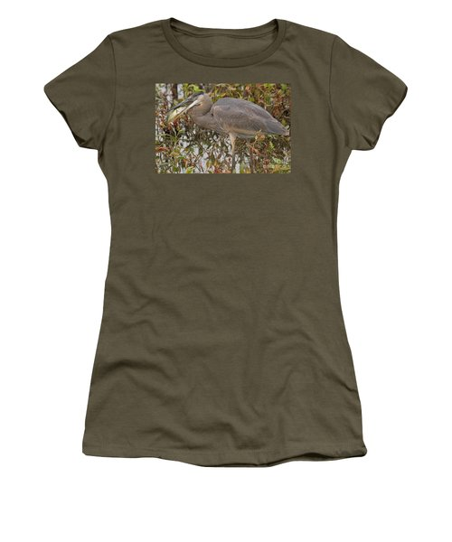 Hungry Heron Women's T-Shirt (Athletic Fit)