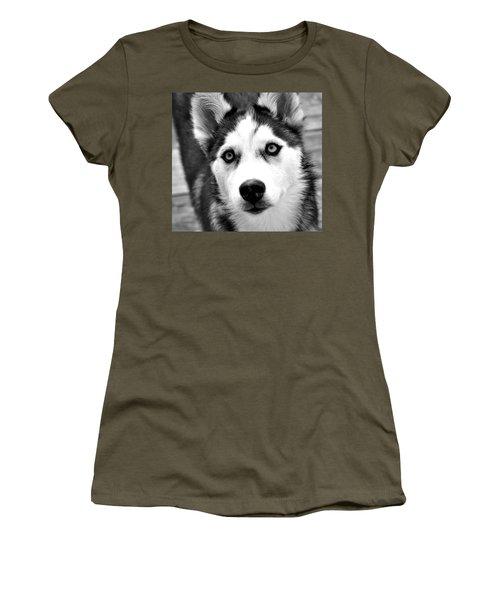 Husky Pup Women's T-Shirt (Athletic Fit)