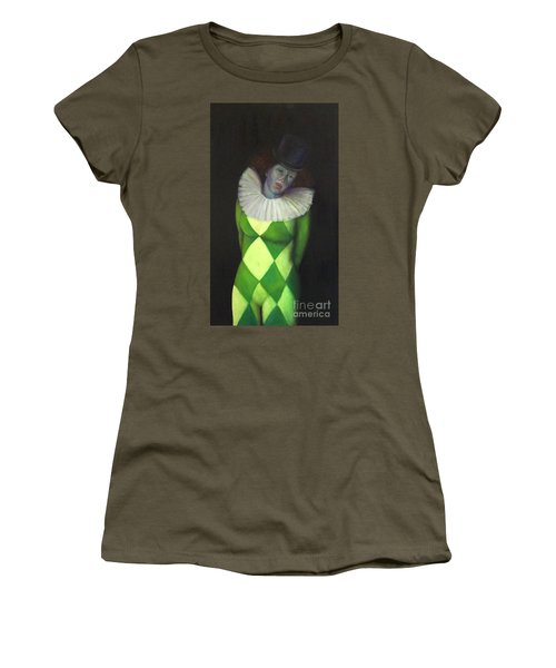 Women's T-Shirt (Athletic Fit) featuring the painting I Am by Marlene Book