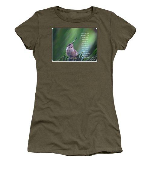 Women's T-Shirt (Junior Cut) featuring the photograph I Am The Light Of The World by Debby Pueschel