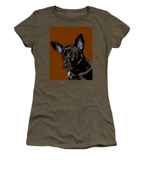 I Hear Ya - Dog Painting Women's T-Shirt (Athletic Fit)