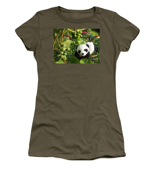Women's T-Shirt (Junior Cut) featuring the photograph I Love Grapes B by Ausra Huntington nee Paulauskaite