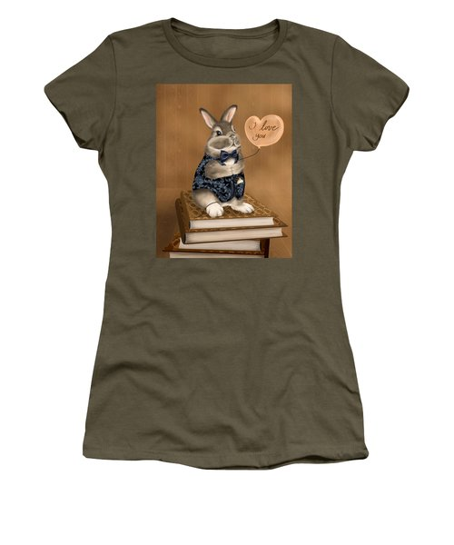 Women's T-Shirt (Junior Cut) featuring the painting I Love You by Veronica Minozzi