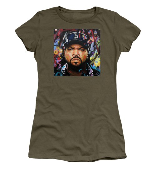 Women's T-Shirt (Junior Cut) featuring the painting Ice Cube by Richard Day