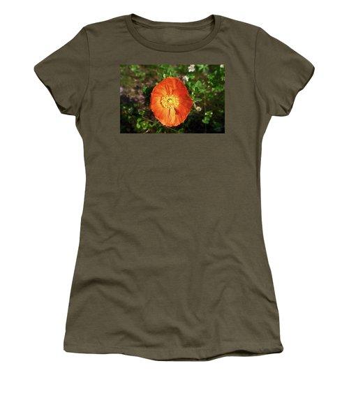 Iceland Poppy Women's T-Shirt (Junior Cut) by Sally Weigand