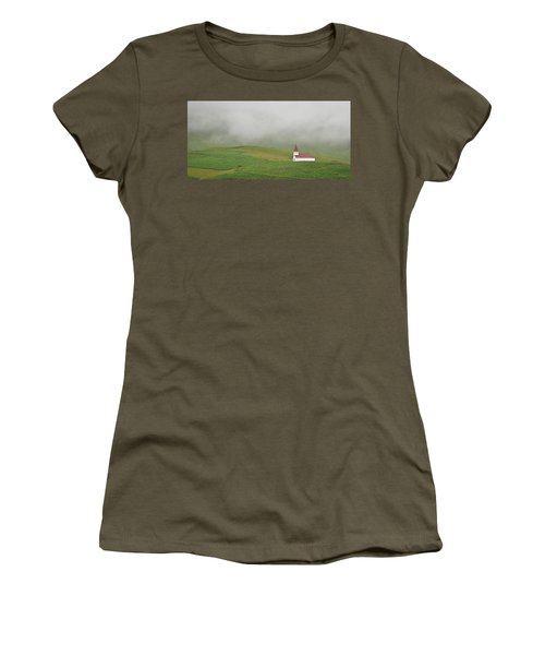 Women's T-Shirt (Junior Cut) featuring the photograph Icelandic Chapel by Joe Bonita