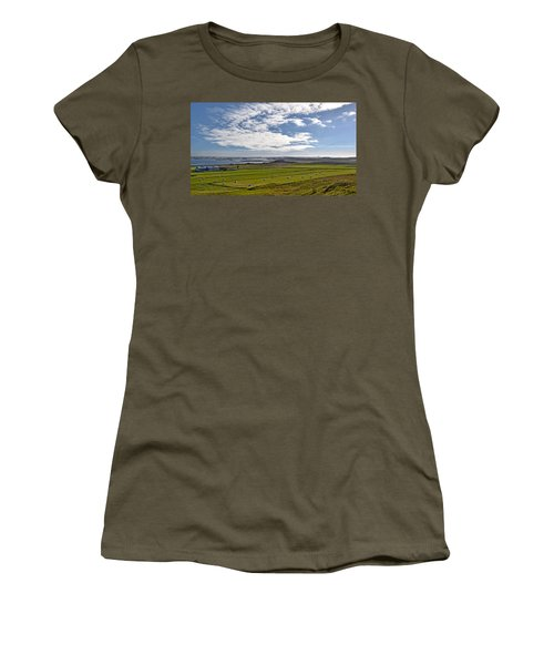 Women's T-Shirt (Junior Cut) featuring the photograph Icelandic Panorama by Joe Bonita