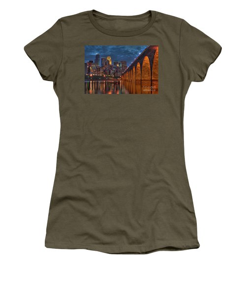 Iconic Minneapolis Stone Arch Bridge Women's T-Shirt