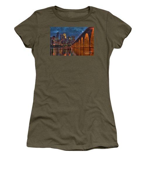 Iconic Minneapolis Stone Arch Bridge Women's T-Shirt