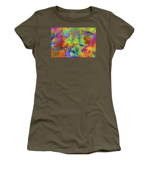 Women's T-Shirt (Junior Cut) featuring the photograph Icy Kaleidoscope by Tony Beck