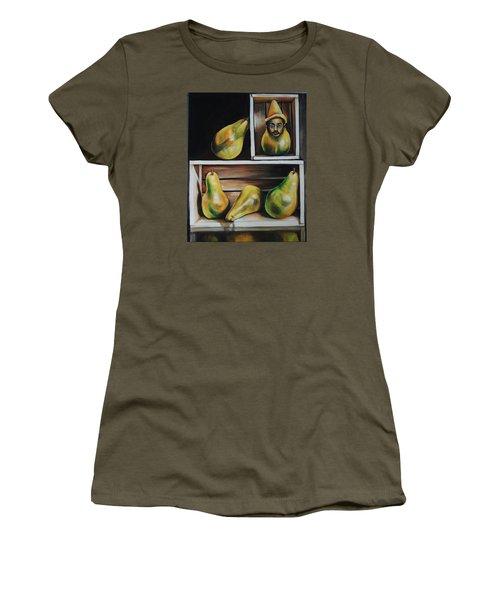 Toulouse-lautrec As A Pear Women's T-Shirt (Junior Cut) by Jean Cormier