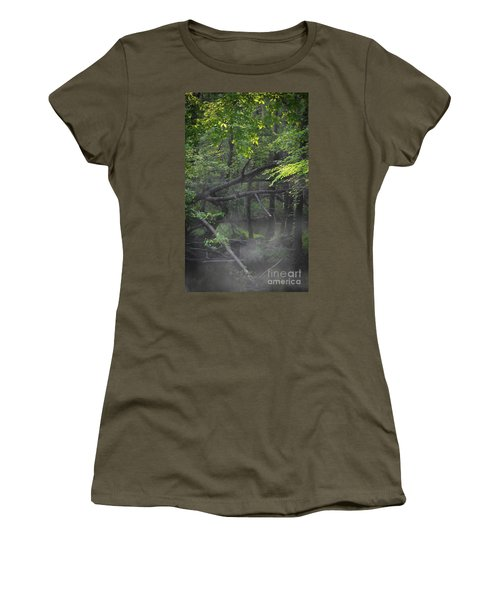 Women's T-Shirt (Junior Cut) featuring the photograph If A Tree Falls In The Woods by Skip Willits