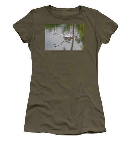 Ike The Crane's Grouchy Day Women's T-Shirt (Athletic Fit)