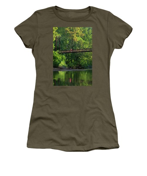 Ilchester-patterson Swinging Bridge Women's T-Shirt (Athletic Fit)