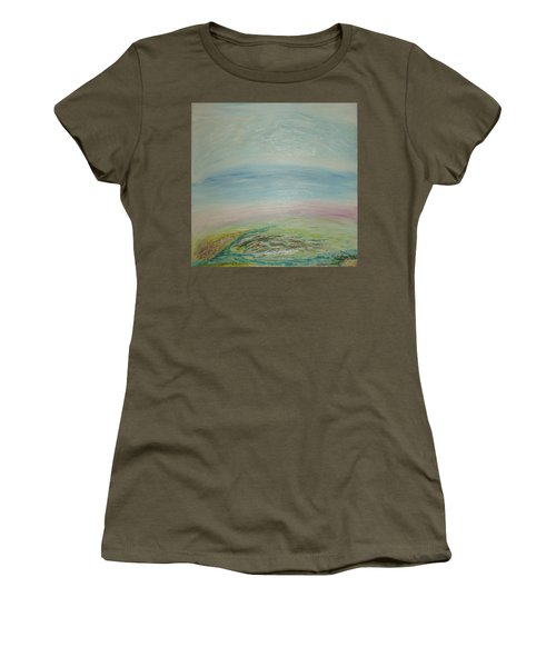 Imagination 7. Landscape. Three Dimensions. View From The Sky. Women's T-Shirt (Athletic Fit)