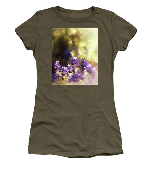 Women's T-Shirt (Athletic Fit) featuring the digital art Impressions Of Muscari by Lois Bryan