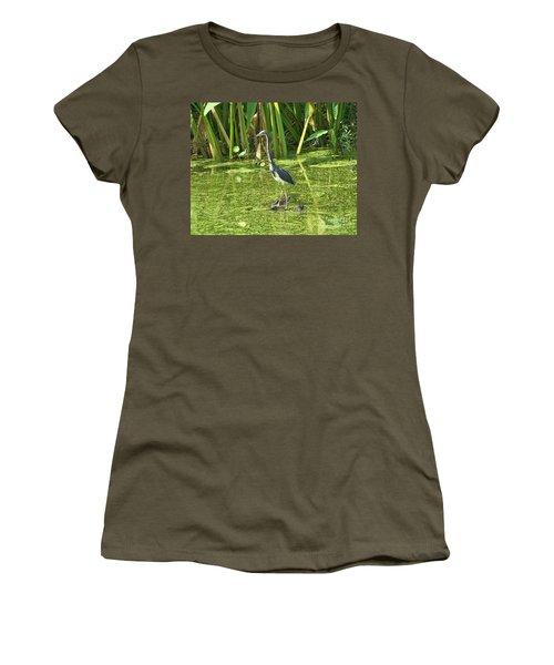 In Green Soup Women's T-Shirt (Junior Cut) by Carol  Bradley