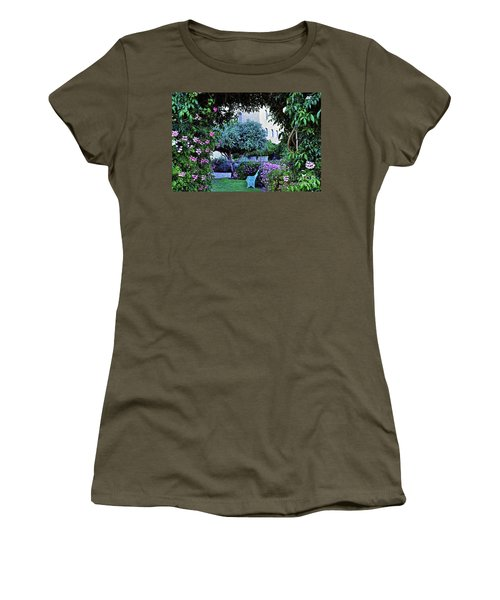 In The Garden At Mount Zion Hotel  Women's T-Shirt (Junior Cut) by Lydia Holly