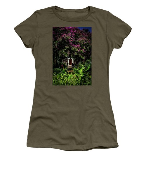 Women's T-Shirt (Athletic Fit) featuring the photograph In The Garden - The Hermitage by James L Bartlett