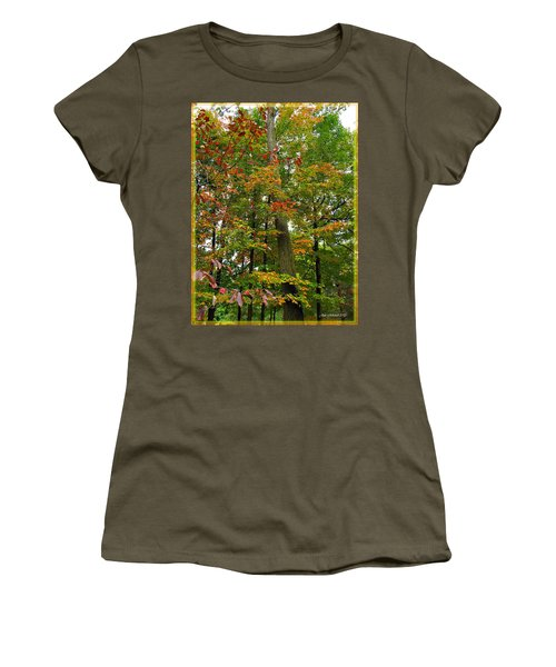 Women's T-Shirt (Junior Cut) featuring the photograph In The Height Of Autumn by Joan  Minchak