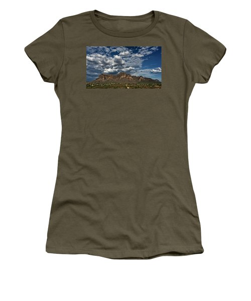 Women's T-Shirt (Athletic Fit) featuring the photograph In The Midst Of The Superstitions  by Saija Lehtonen