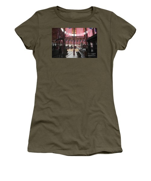 In The Roundhouse At The B And O Railroad Museum In Baltimore Women's T-Shirt
