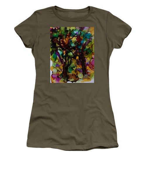 In The Woods Women's T-Shirt (Junior Cut) by Alika Kumar