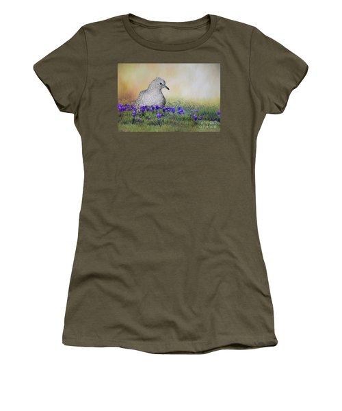 Inca Dove  Women's T-Shirt (Junior Cut) by Bonnie Barry
