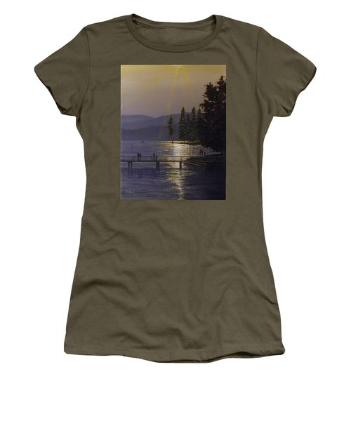 Independence Point, Lake Coeur D'alene Women's T-Shirt (Athletic Fit)