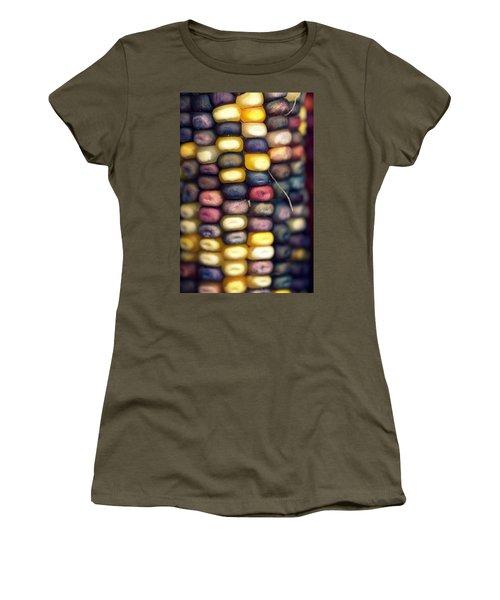 Indian Corn Women's T-Shirt (Junior Cut) by Joseph Skompski