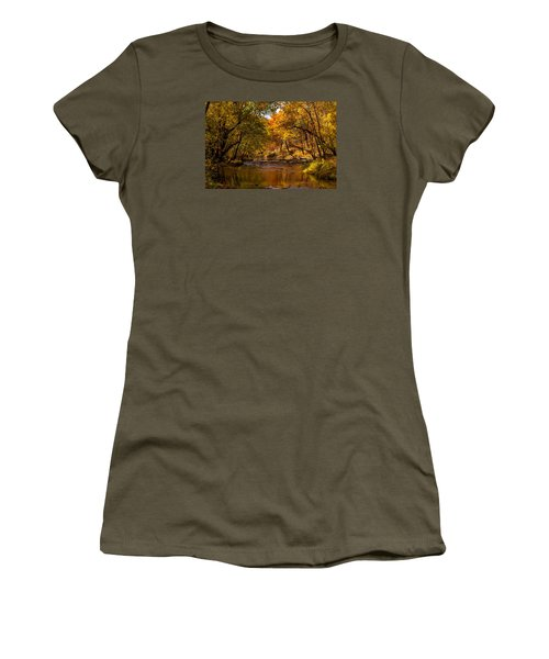 Indian Creek In Fall Color Women's T-Shirt