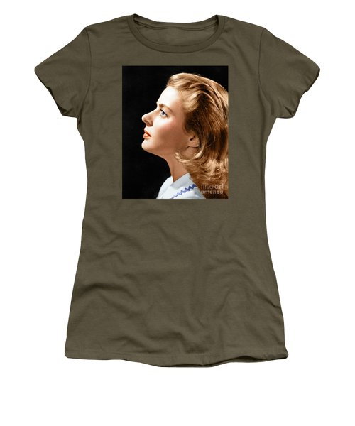 Women's T-Shirt (Athletic Fit) featuring the photograph Ingrid Bergman by Granger