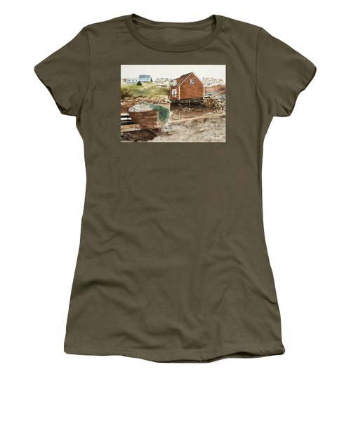 Inlet At Peggy's Cove Women's T-Shirt (Athletic Fit)