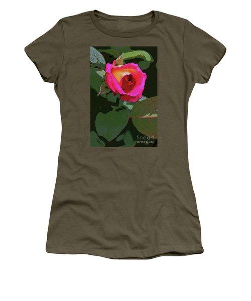 Inner Rose Women's T-Shirt (Junior Cut) by Craig Wood