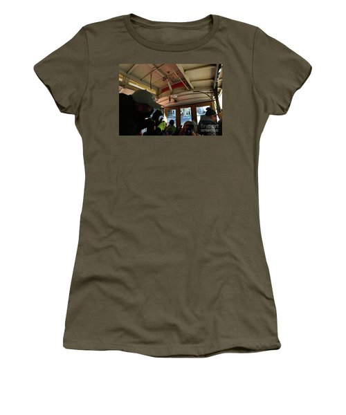 Women's T-Shirt (Junior Cut) featuring the photograph Inside A Cable Car by Steven Spak